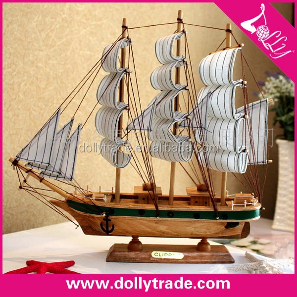 home decor wood craft model sailboat