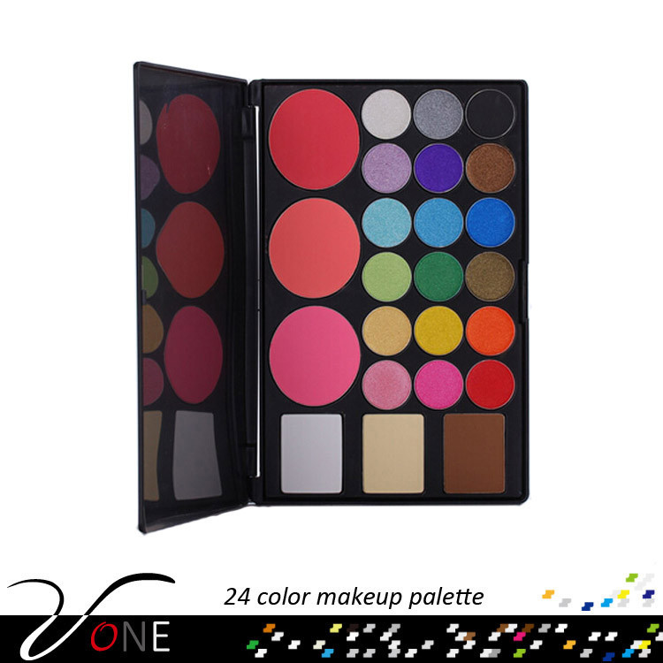 Pro 24 color wholesale korean cosmetics,portable eye shadow make-up kit for women
