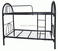 Cheap College school bunk beds,twin-futon full steel student housing/apartment/dormitory double metal/iron black frame beds