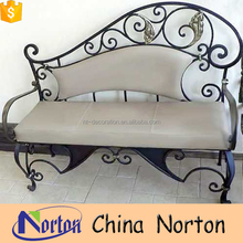 Modern new product indoor decor iron bench with soft mattress NTIRH-049L