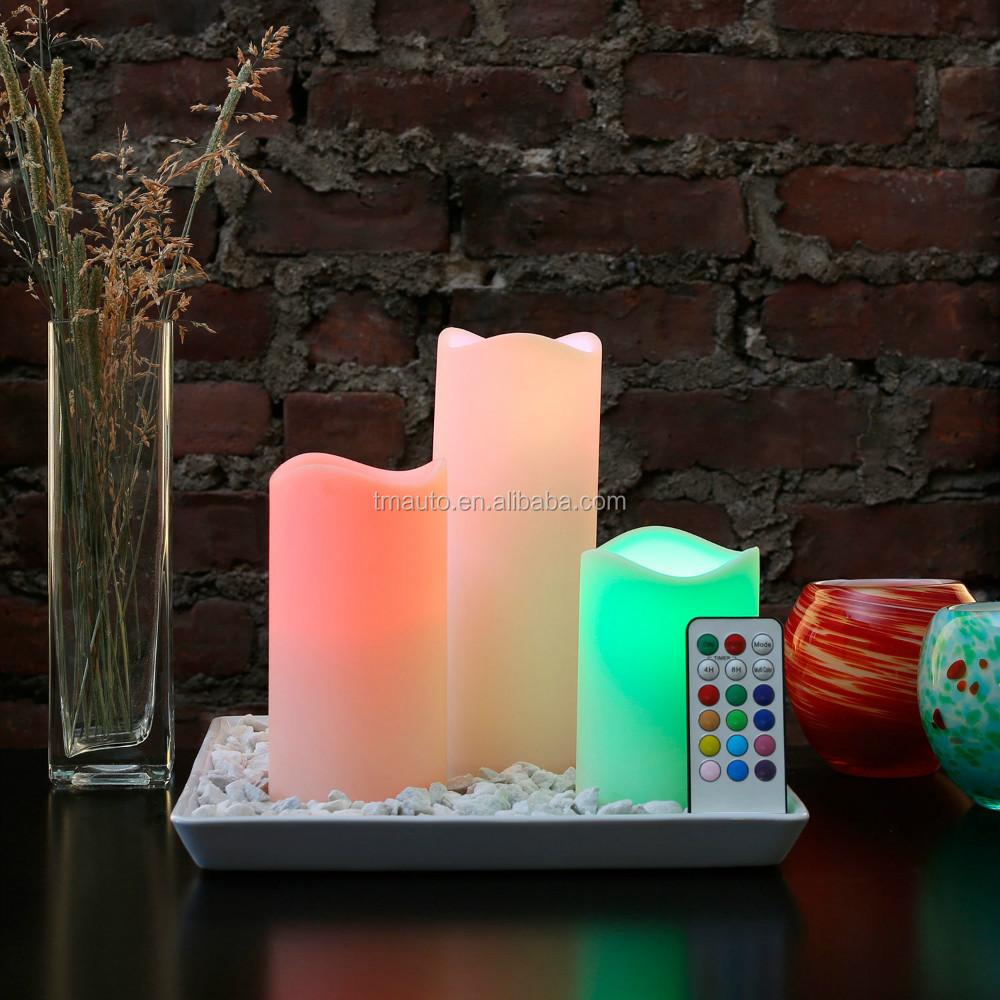 led home decoration candle/ 3 pcs in box/ factory directly
