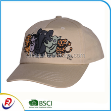 Funny Printing Five Animals Cute 5 Panel Cotton Baseball Caps Custom Cartoon For Adults and Children Sports Cap Hats