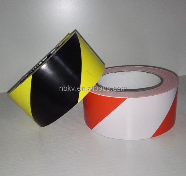 Red & White Striped Hazard Warning PVC Lane marking tape