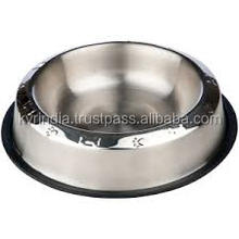 matt finish Embossed Non Skid Pet Bowl