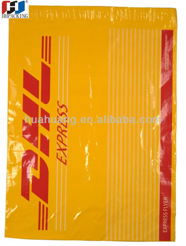 oxo biodegradable DHL courier plastic bags ldpe