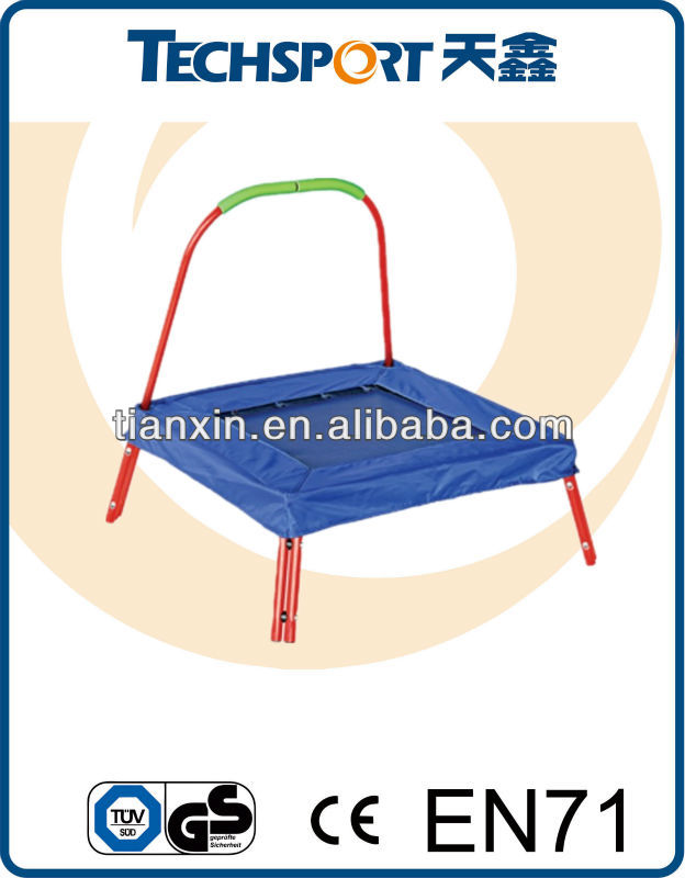 mini rectangle trampoline with pad