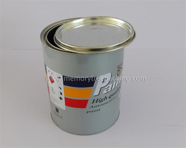 metal barrel for paint with flower lid