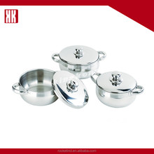 Decorative 6pcs Stainless Steel German Cookware Set
