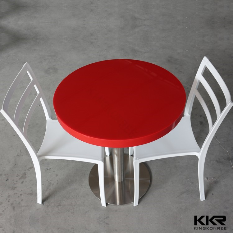 kfc furniture solid surface table tops with metal table legs