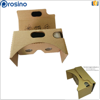 Upgraded adjust Cardboard VR BOX Virtual 3d glasses for movie