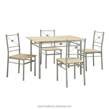 Cheap and Eco-friendly wooden table top dinette Space dining room set