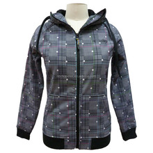 woman casual sport wear zip-up hoodie outdoor jacket for autumn and winter