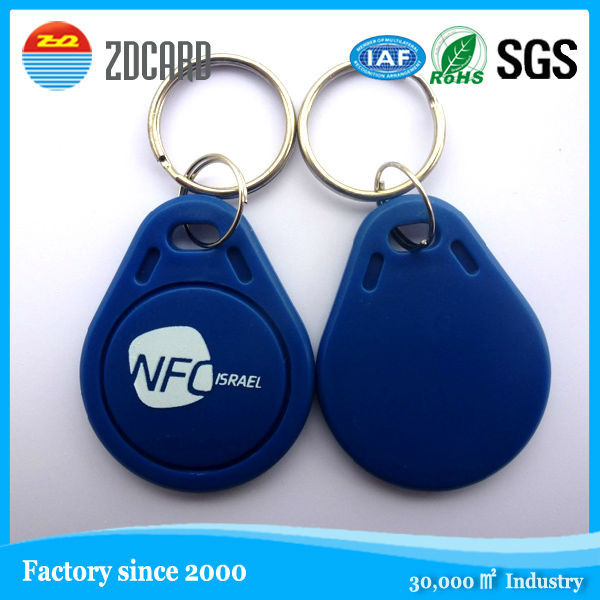 Wholesale plastic Waterproof personalized rfid key fob