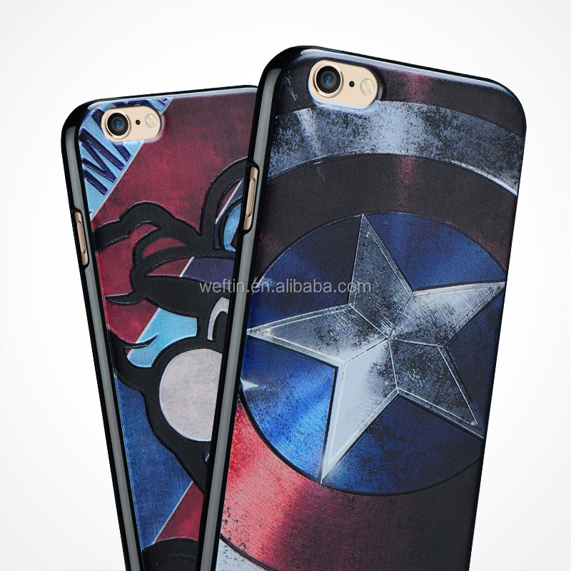 High quality Classical Captain America TUP soft case for iphone 6 /6S