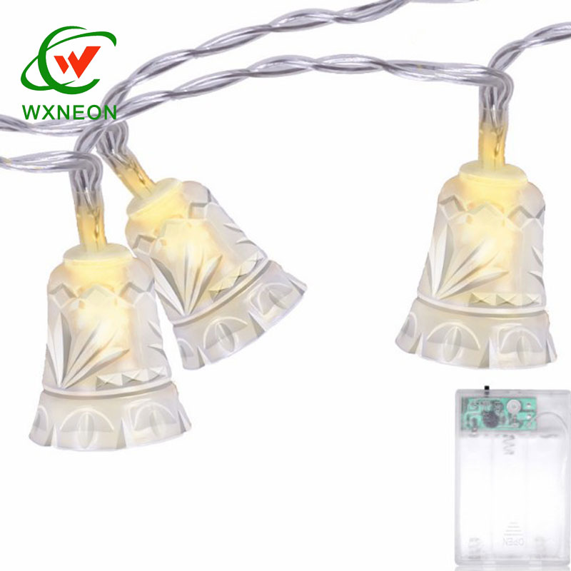 plastic clear bell 10 led christmas