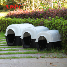Wholesale waterproof plastic black white animal shelter luxury pet cat dog bed cave kennel indoor