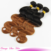New Popular Style Real Unprocessed Remy Top Quality Ombre Light Brown Weave Hair