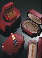 2014 newly fashion wine red glossy wooden jewelry cases