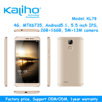 Newest 5.5inch MTK6735 quad core 1.5Ghz 2GB RAM 16GB ROM 13MP 2500mAh 4G FDD LTE android 5.1 mobile phone