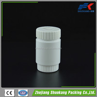 100cc / 100ml small empty round HDPE plastic vitamin capsules / PE tablets bottle with 38mm child safety cap