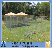 2015 high quality comfortable cheap powder coating or galvanized dog kennels/pet cages