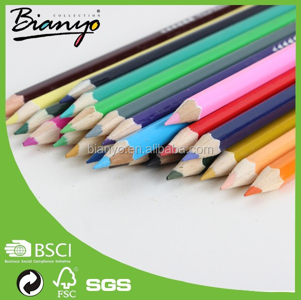 BN-638A-12 wholesale custom rabinbow glitter fluorescent color pencil/ colour pencil set