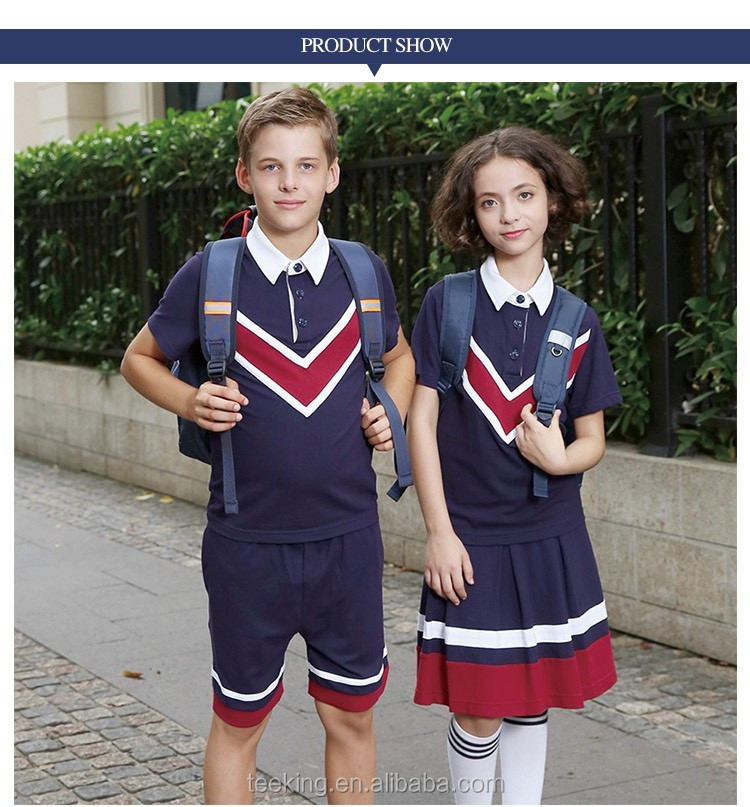 Custom Navy Blue Summer School Uniform