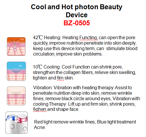 Hot selling new item cool and hot photon vibeation beauty device