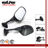 BJ-RM-051 ABS Shell Oval-shaped Black Motorcycle Side Mirror for CBR600