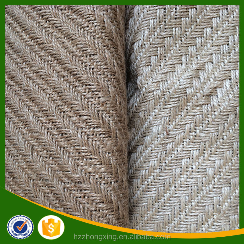 Wholesale Fish Bone Pattern Jute Fabric
