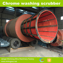 Alluvial chrome mining rotary scrubber for alluvial chrome washing plant