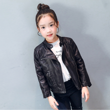 OEM Factory, Girls Black Baby PU LeatherJackets For Kids