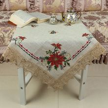 New product superior quality multi-color linen cloth waterproof cross-stitch tablecloth