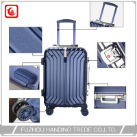 square flag travel trolley case for file , abs bule trolley luggage sedex