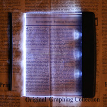 Portable Reading Lamp Plastic LED Light Transparent Panel Lightwedge Books Reading Lamp Light High Quality Unique Book Lights