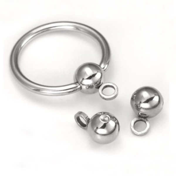 BCR Piercing Body Jewelry 316L Stainless Steel Ball Closure Ring with A Hoop Attached
