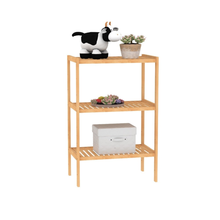 3 Tier Bamboo Plant Display Rack Corner <strong>Shelf</strong>