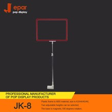 Wholesale JK-8 Telescope Pipe Magnetic a4 Frame Sign Stand