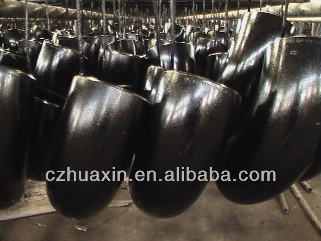 carbon steel pipe fittings LR ERW SCH40 ELBOW black painting in factory