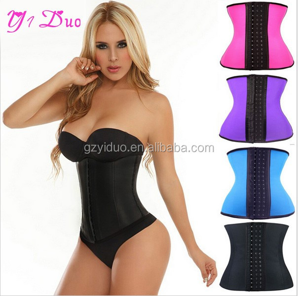 2015 new hot sale slimming waist training corsets wholesale latex Waist Trainer sexy Women body shaper ladies sexy underwear