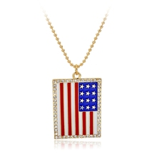 Longway <strong>Necklace</strong> Wholesale # American Flag USA Map Pendant <strong>Necklace</strong>