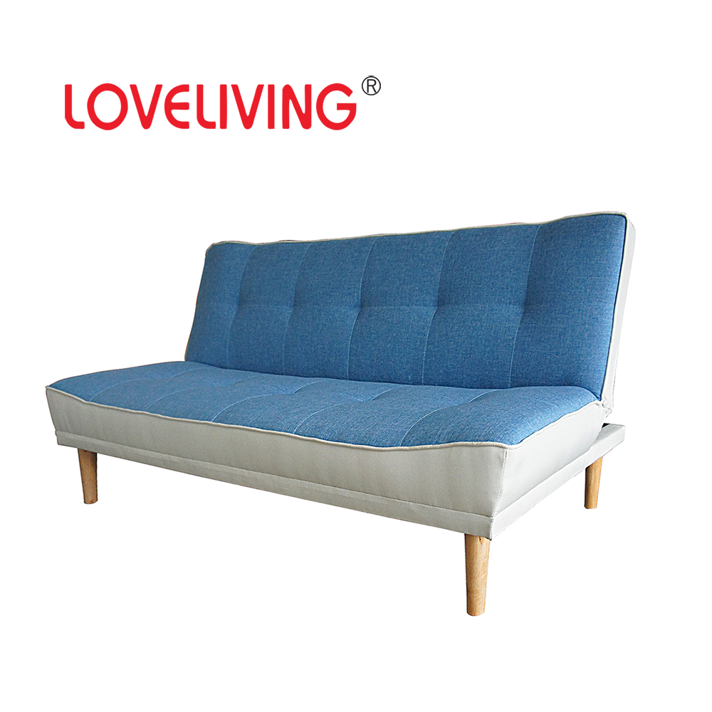 BLue and White Living Room Furniture Sofa Bed