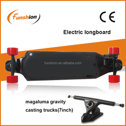 ABS + CANADIAN MAPLE led wheels transparent electric longboard for sale