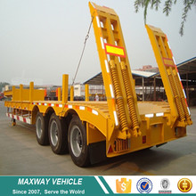 Supply dry van trailer 3 axles low bed semi trailer price sale