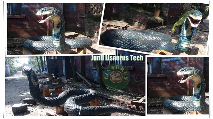Lisaurus-L675 Professional Life Size Animatronic Animals animatronic snake For Sale