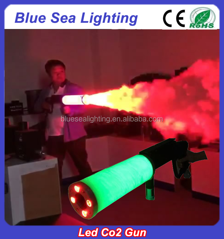 Professional stage effect dj equipment handheld jet led co2 gun