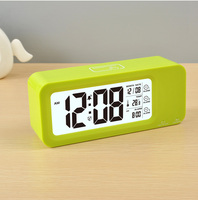 Battery operated LCD day date display digital desktop calendar clock