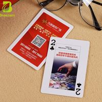 Customize poker 100 USD Dollar Design 24K Gold Foil playing Card With Wooden Box Customized playing card for advertising