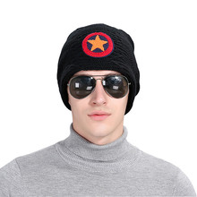 CUHAKCI New Men's Knitted Warm Baggy Ski Sports Carhart Skullies Casual Beanie Five Star Woolen Hats