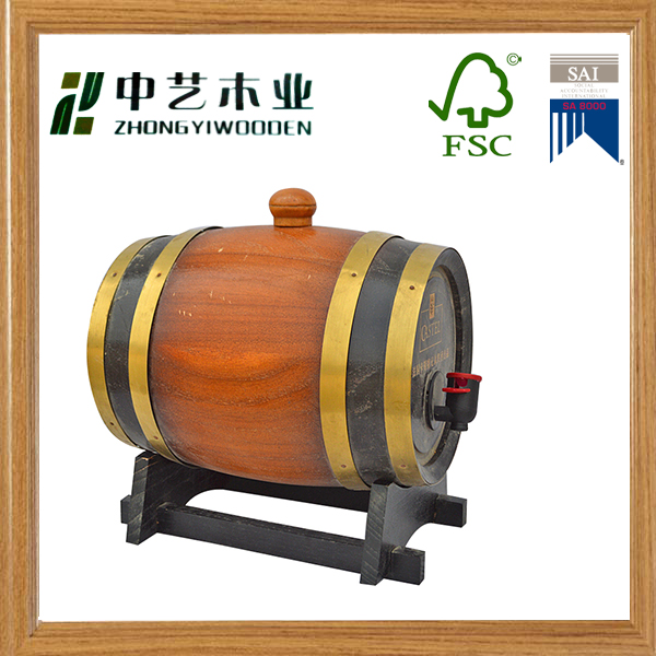 hot sale factory oak vanish wooden barrel